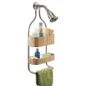 Bamboo shower caddy bathroom knick knacks pinterest for Bathroom knick knacks