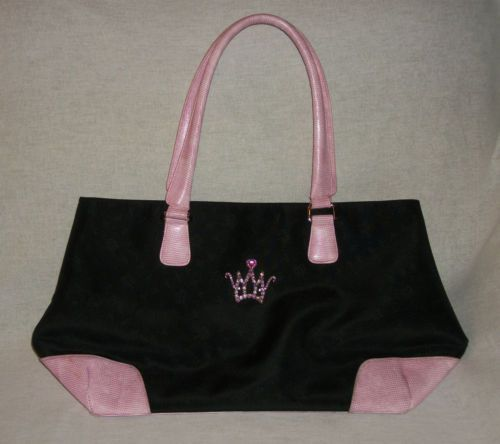 MARY KAY Black & Pink Handbag with Embellished Crown. Former Consultant Prize. Excellent Pre-Owned Condition! $29.99 obo