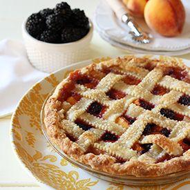 Blackberry-Peach Pie, a summery pie with a buttermilk pie crust