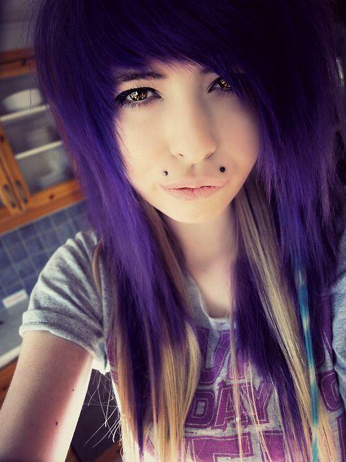 Purple Scene Hair Tumblr