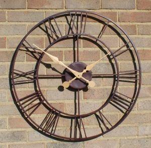 giant open face metal garden outdoor wall clock 76cm large