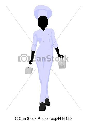 Female Chef Silhouette | Car Interior Design