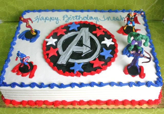 Avengers Cake With Toys