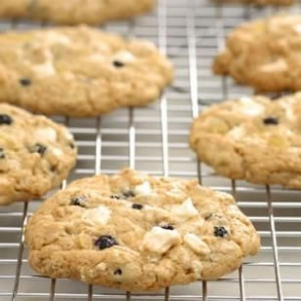 Blueberry & White Chocolate-Chunk Ginger Cookies @EatingWell Magazine