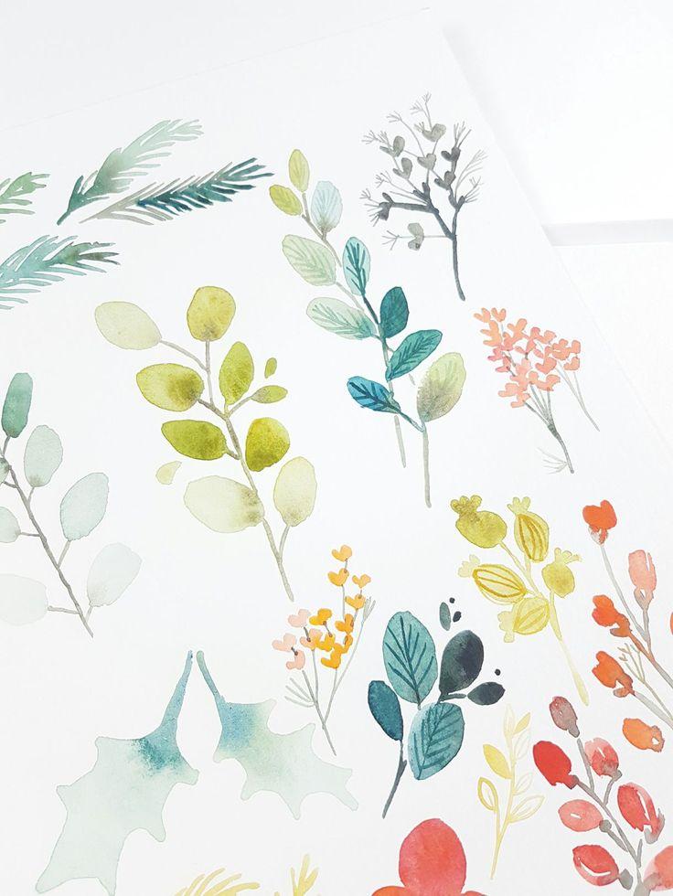 Watercolor Flower Clipart Les Meilleures Idees De La Categorie Cartes