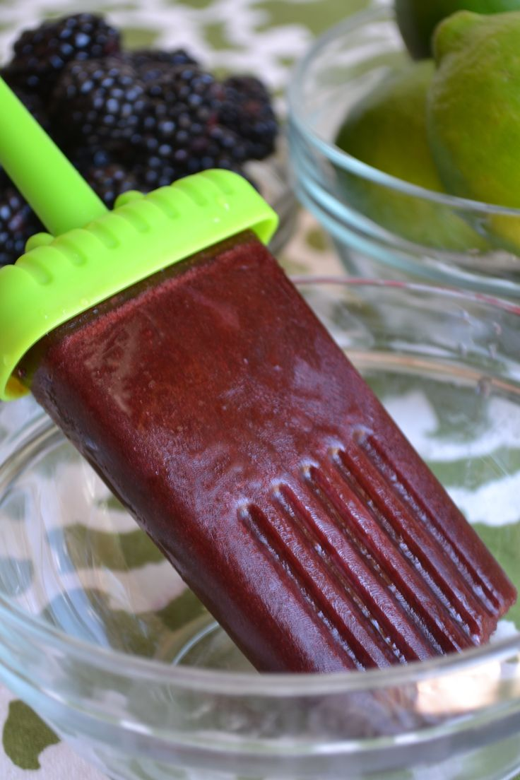 Homemade Blackberry Popsicle pics - delicious!