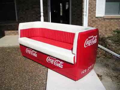 Custom made coca cooler couch coke sofa for Coole couch