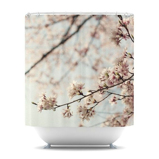 Shower Curtain- Japanese Cherry Blossom- Catherine McDonald