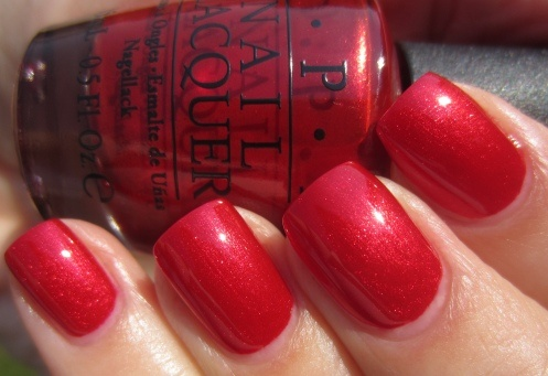 OPI 'Danke-Shiny Red  Polished  Pinterest