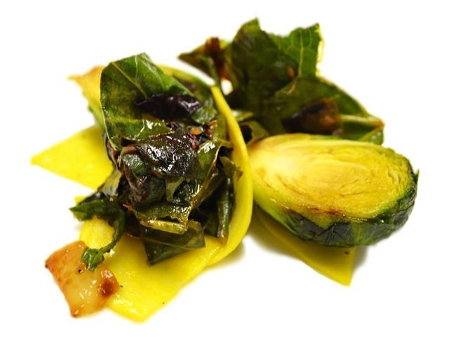Golden Beets And Brussels Sprouts Recipe — Dishmaps