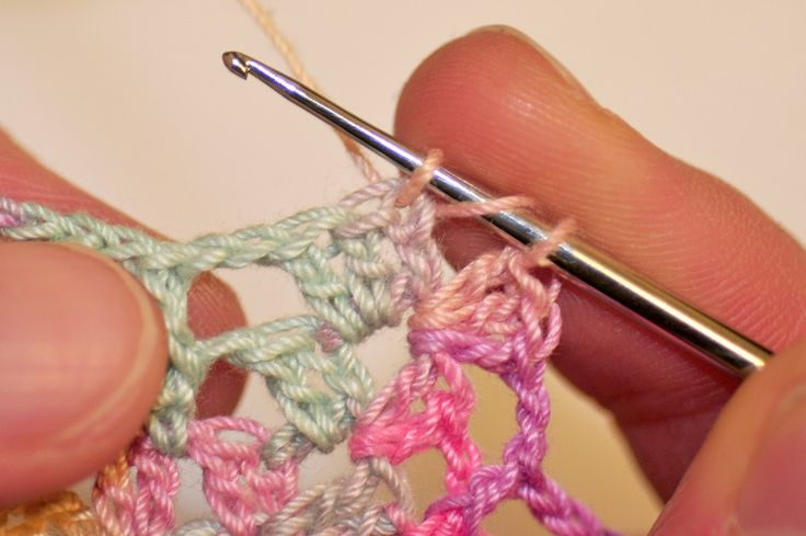 Crocheting Into Chain : Double Crochet in the Round Joining ~ double crochet into 3rd chain of ...