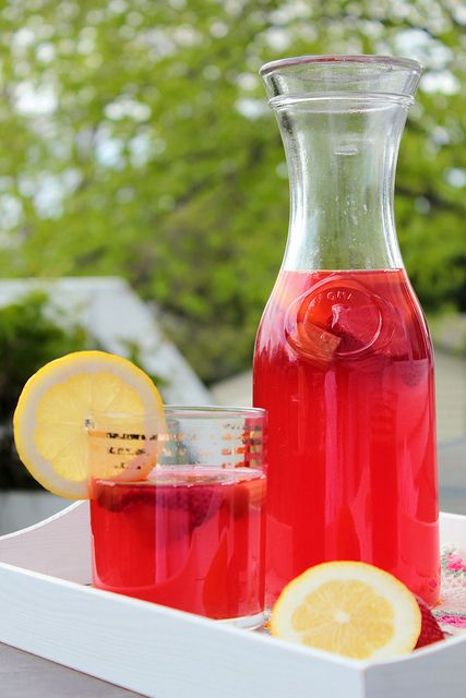 Strawberry Rhubarb Lemonade Recipe | Somebody Get Me A Drink | Pinter ...