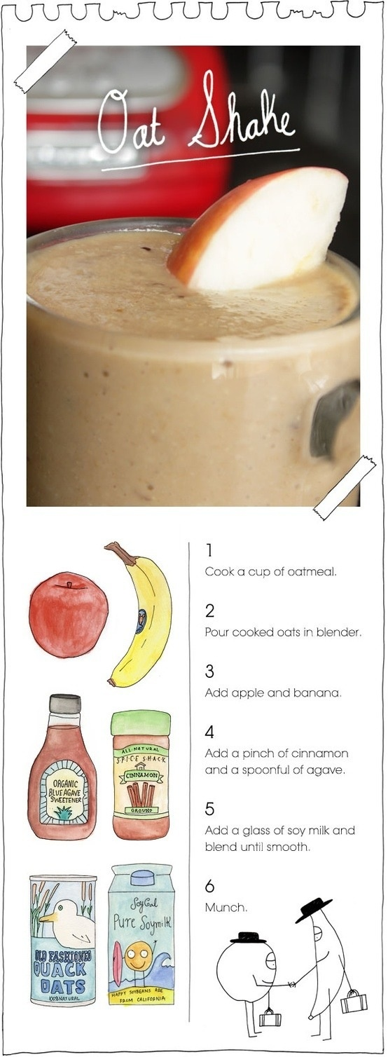 Oat Shake   Healthy foods, drinks, ect.   Pinterest