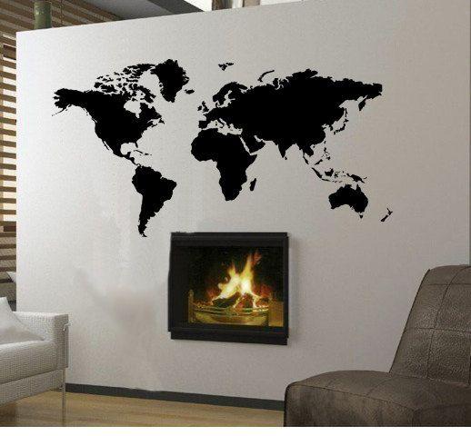 Wall Decal World Travel Globe Map Earth Planet Home Decor Art Vinyl Sticker Maison Pinterest
