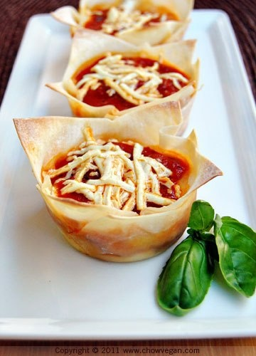 Staying on the cupcake theme: Vegetable Lasagna Cupcakes https://www ...