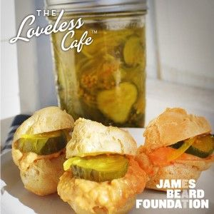 PIMENTO CHEESE PROFITEROLES WITH BREAD & BUTTER PICKLES