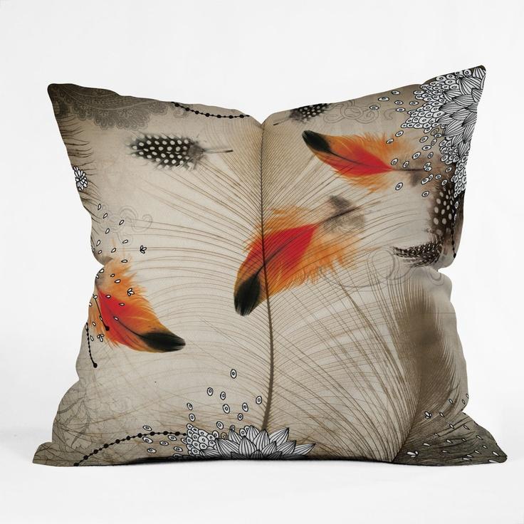 Iveta Abolina Feather Dance Throw Pillow