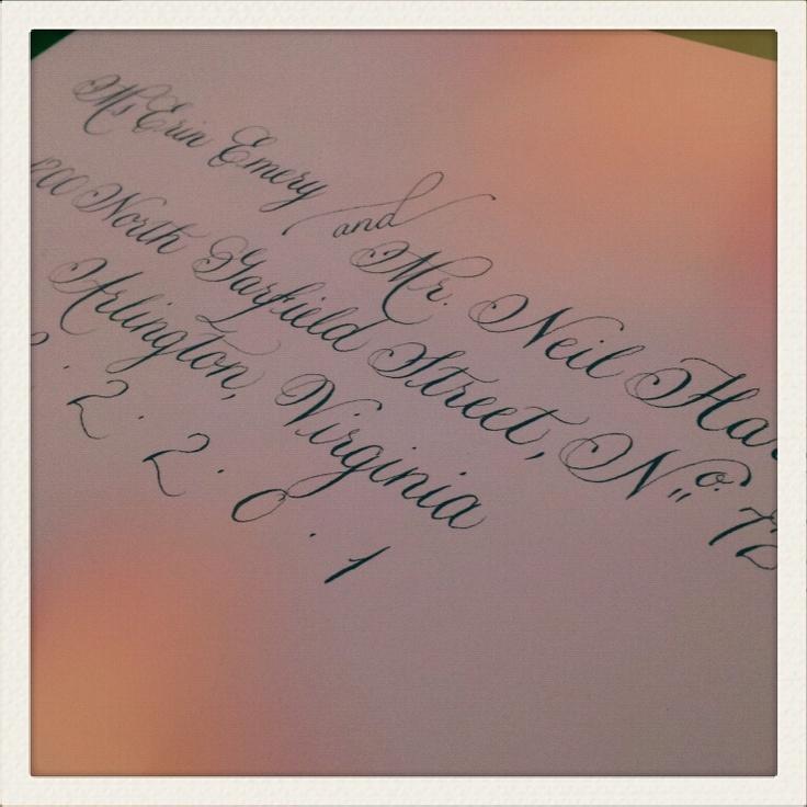 Wedding Calligraphy Envelopes Monograms Pinterest