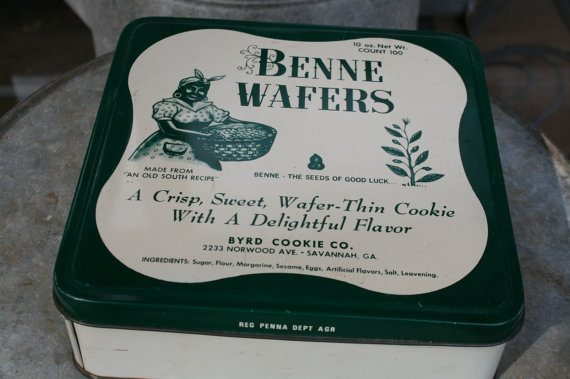 old Benne Wafers tin Savannah Georgia square old by stockintrade, $8 ...