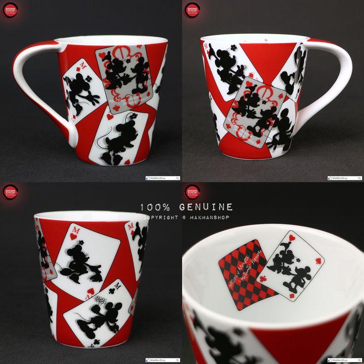 Disney Mickey & Minnie Mickey Mouse Poker Silhouette Porcelain Mug Cup ...