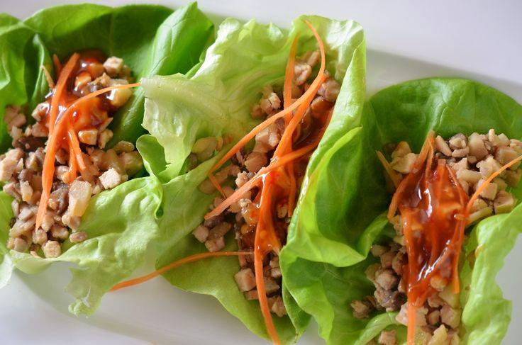 Chicken lettuce wraps By Tango Mango Blog