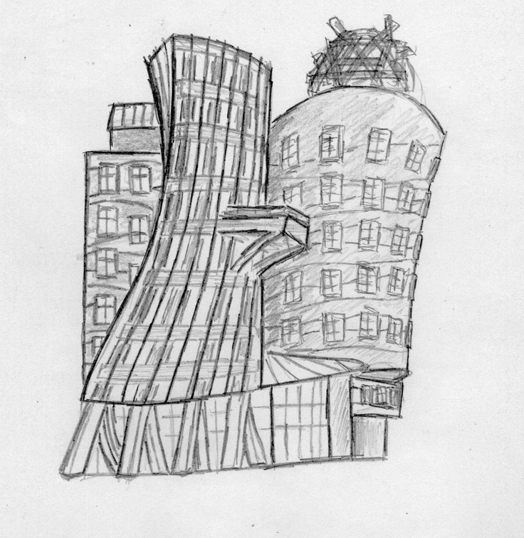 Sketch dancing house pinterest for House sketches from photos