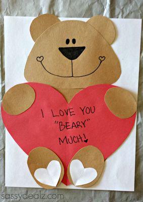 valentine heart animal crafts