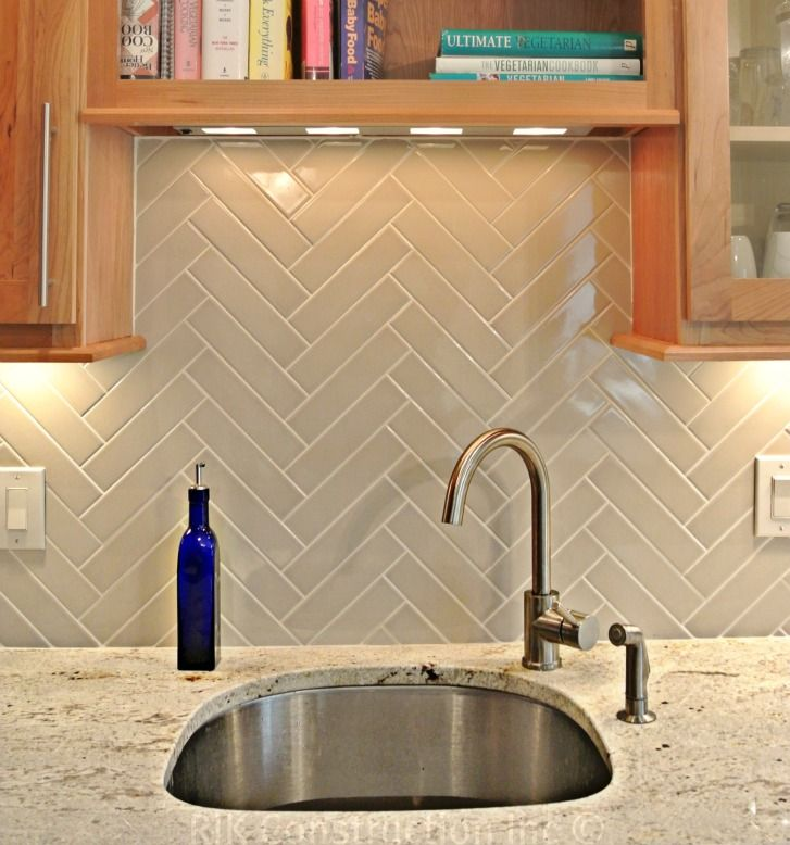 glazed ceramic herringbone backsplash pinterest
