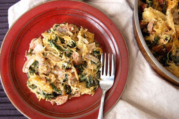 comfort food in my book, and this sausage and kale pasta casserole ...