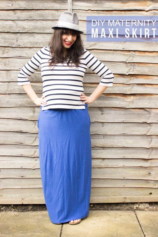 diy maternity maxi skirt tutorial crafts ideas