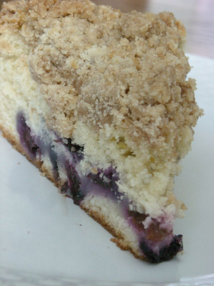 blueberry crumb cake-this is honestly my favorite cake recipe ever ...