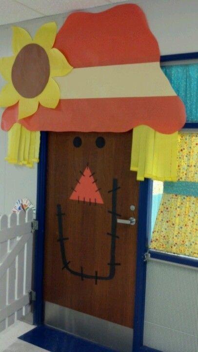 Scarecrow Door Decoration Classroom ~ Scarecrow classroom door pinterest