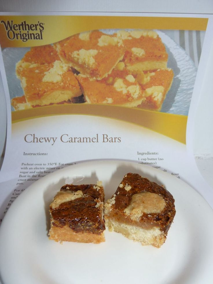 Werther's chewy caramel bars-had these last night made with pecans ...