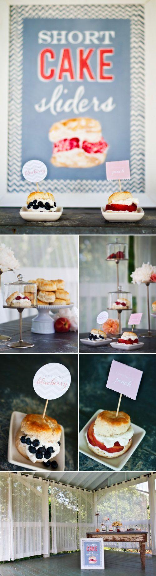 Short Cake Sliders | Recipes to Try-Desserts | Pinterest