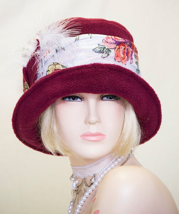 Viintage inspired cloche hat great gatsby by aileens4hats 163 25 00