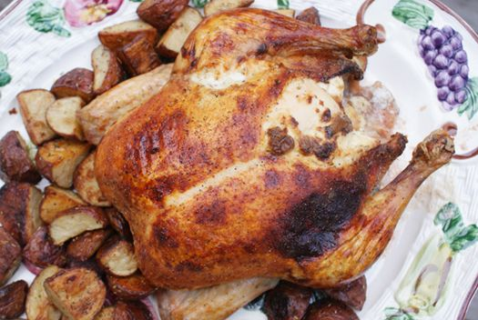 Rosemary Roasted Chicken & Potatoes - a delicious rosemary cream ...