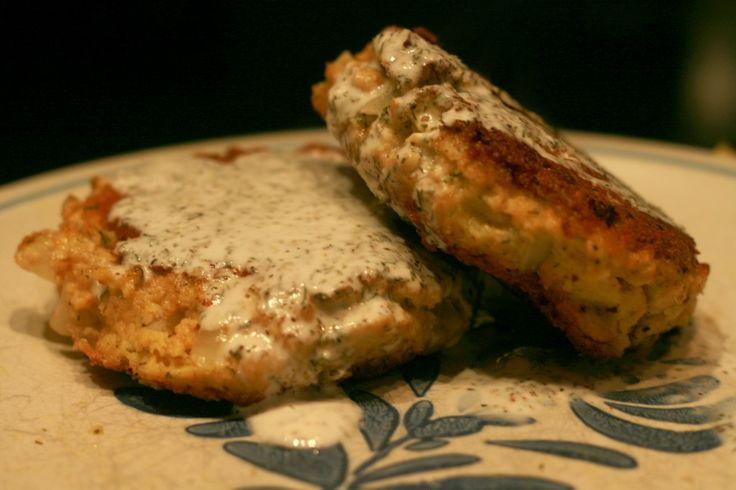 Salmon Patties with a Creamy Lemon-Dill Sauce: The Paleo Mama