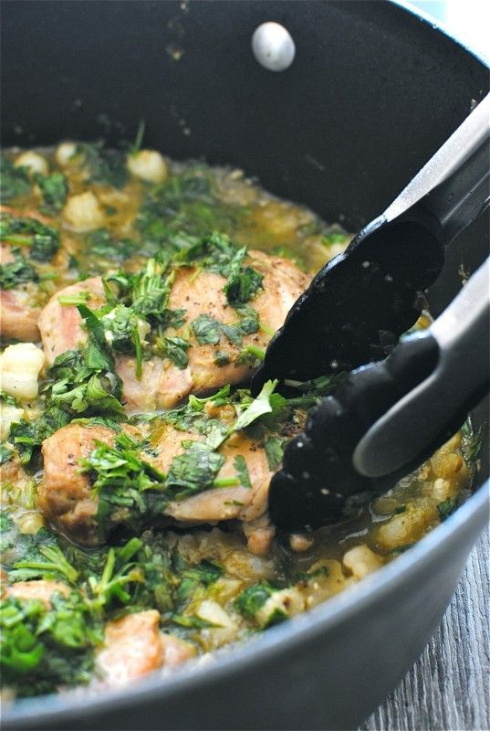 Braised Chicken in a Tomatillo Sauce | Everything about Food! | Pinte ...