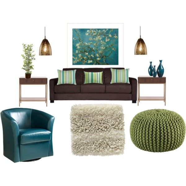 brown and teal living room house stuff pinterest