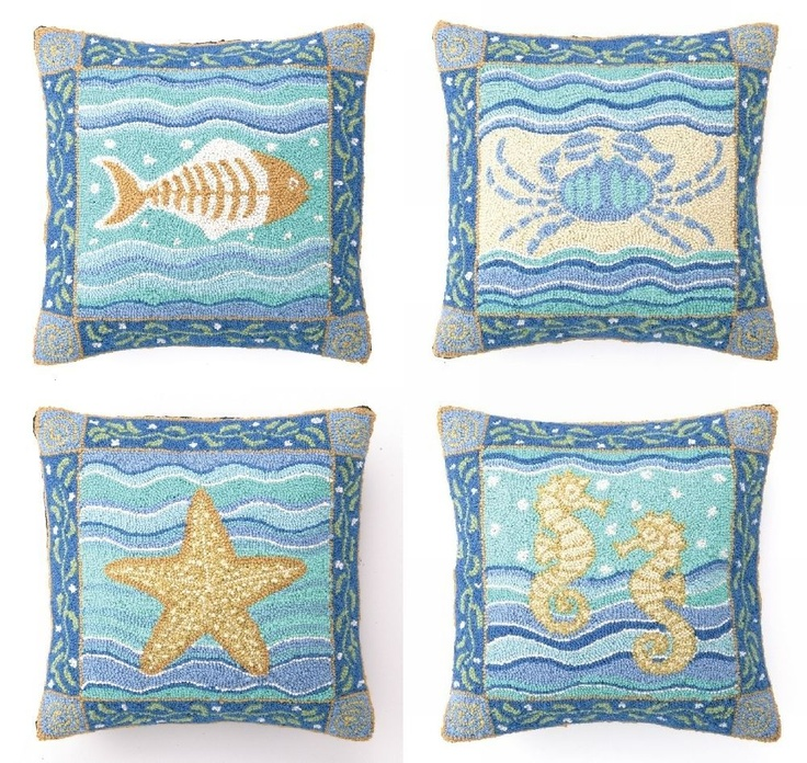 beach-themed throw pillows For the Home Pinterest