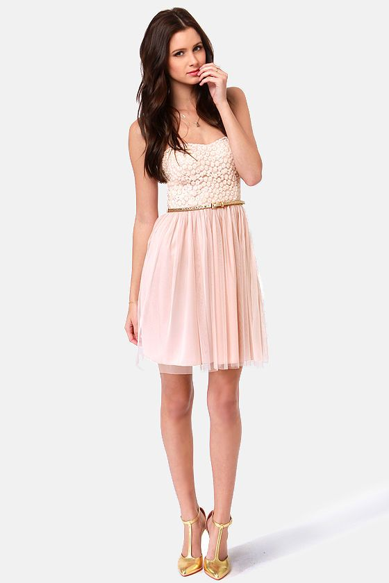may i have this dance blush pink lace dress