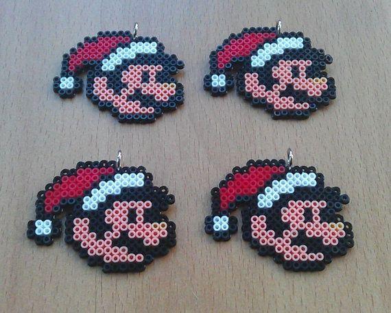 Santa Mario Christmas Tree Decorations. Pack of 6.