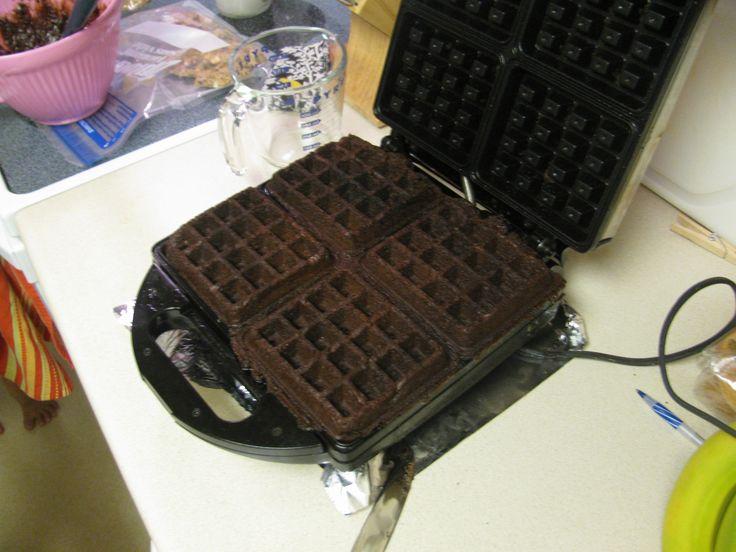 Waffle brownies | Cakes..Cupcakes..Cookies | Pinterest