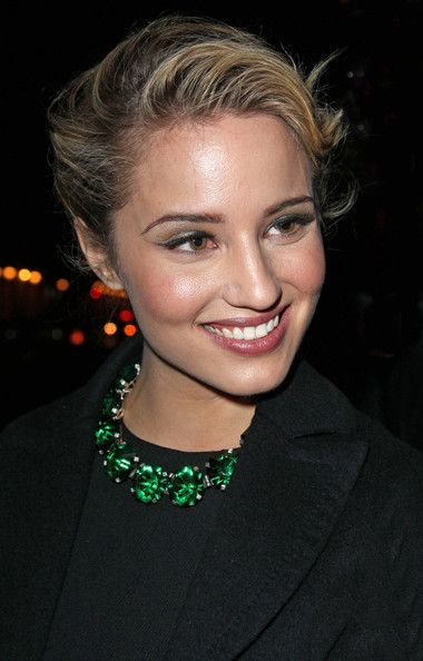 Dianna Agron Bobby Pinned updo