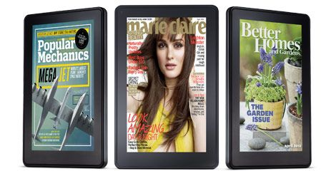 Kindle Fire great for E-magazine reading!