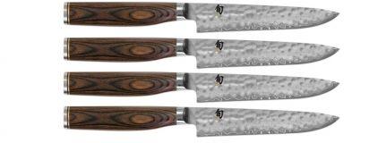 shun premier steak knife set high end kitchen products