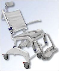rolling shower commode chair is made from stainless steel and