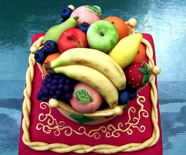 fruit bowls fruit cake