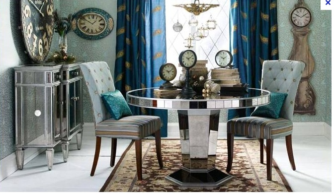 Pier 1 hayworth mirrored dining room love pinterest for Pier 1 dining room pictures