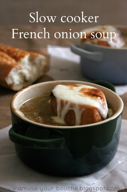 Slow cooker French onion soup | Amuse Your Bouche .... made with white ...